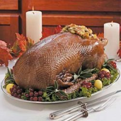 Goose with Corn Bread Stuffing recipe