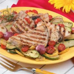 Swordfish with Sauteed Vegetables recipe