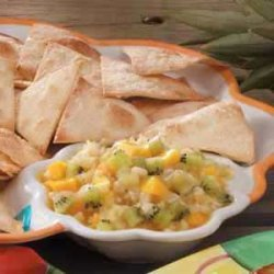 Fruit Salsa with Ginger Chips recipe