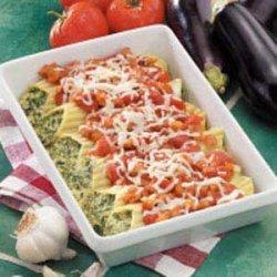 Manicotti with Eggplant Sauce recipe