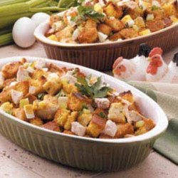 Corn Bread Dressing for a Crowd recipe