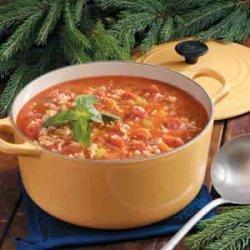 Turkey Barley Tomato Soup recipe