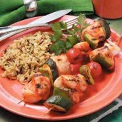 Grilled Turkey Kabobs recipe