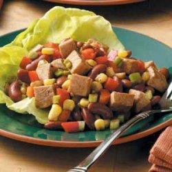 Southwest Pork and Bean Salad recipe
