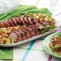 Grilled Pork with Avocado Salsa recipe