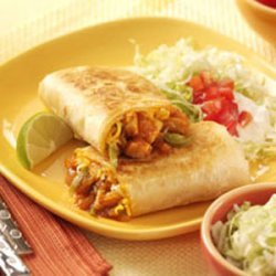 Barbecue Chicken Burritos recipe