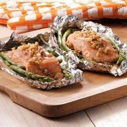 Honey-Dijon Salmon and Asparagus recipe
