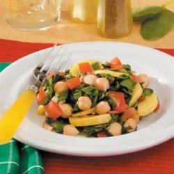 Spinach and Garbanzo Skillet recipe