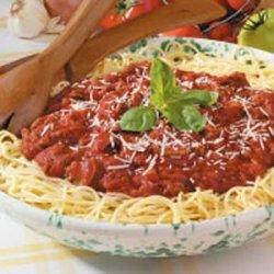 Spicy Spaghetti Sauce recipe