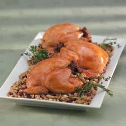Wild Rice Stuffed Cornish Hens recipe