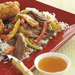 Beef Stir-Fry with Peanut Sauce recipe