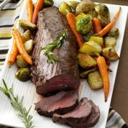 Beef Tenderloin with Roasted Vegetables recipe