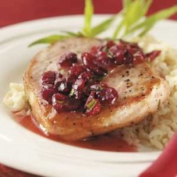 Pork Chops with Cranberry Sauce recipe