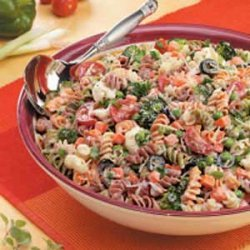 Creamy Italian Spiral Salad recipe