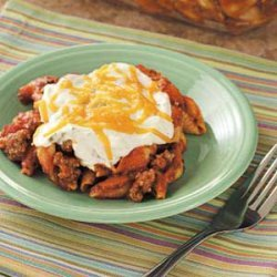 Cheese-Topped Beef Bake recipe