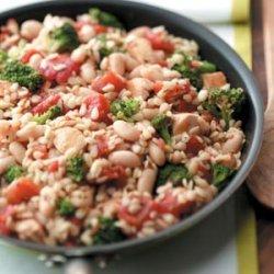Chicken Orzo Skillet recipe