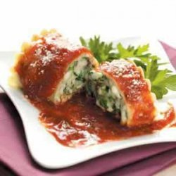 Spinach and Cheese Lasagna Rolls recipe
