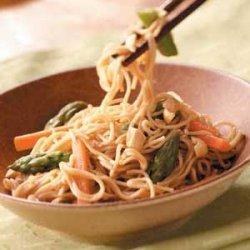 Asian Vegetable Pasta recipe