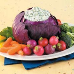 Spinach Dip in Red Cabbage recipe