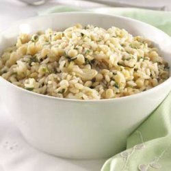Garlic-Herb Orzo Pilaf recipe