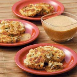 Crab Cakes with Red Pepper Sauce recipe