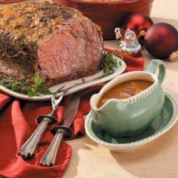Rib Roast with Madeira Gravy recipe