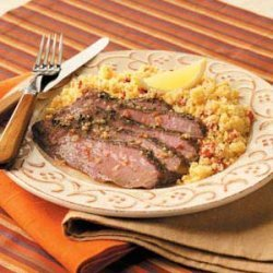 Flank Steak with Couscous recipe