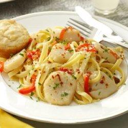 Sea Scallops and Fettuccine recipe