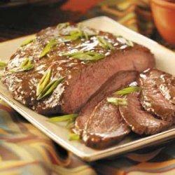 Flank Steak with Wine Sauce recipe