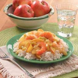 Curried Shrimp and Apples recipe