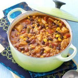 Tortilla Chicken Bean Soup recipe