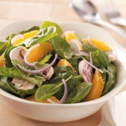Orange Lime Spinach Salad recipe