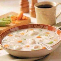 Chicken Soup with Potato Dumplings recipe