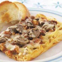 Spaghetti Pizza Casserole recipe