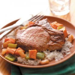 Sweet Potato Pork Skillet recipe