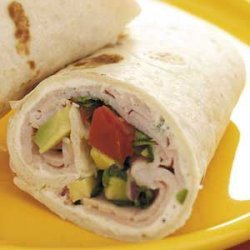 Avocado Smoked Turkey Wraps recipe