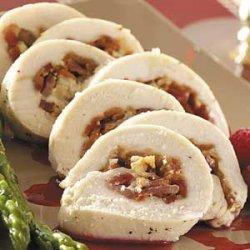 Chicken Rolls with Raspberry Sauce recipe