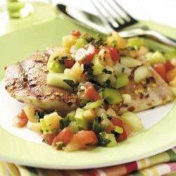 Spiced Chicken with Melon Salsa recipe