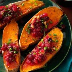 Cranberry-Walnut Sweet Potatoes recipe