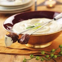 Beef Fondue with Mustard-Mayonnaise Sauce recipe