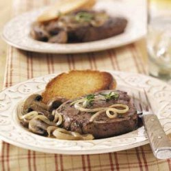 Steaks with French Onion Sauce recipe