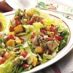 Colorful Turkey Salad Cups recipe