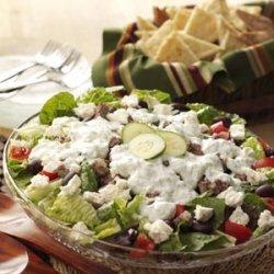 Gyro Salad with Tzatziki Dressing recipe