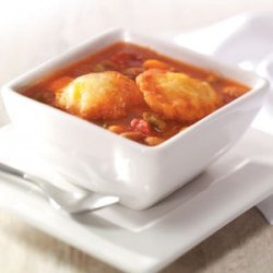 Bean Soup with Cheddar Cornmeal Dumplings recipe