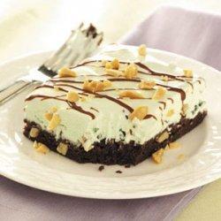 Mint Sundae Brownie Squares recipe