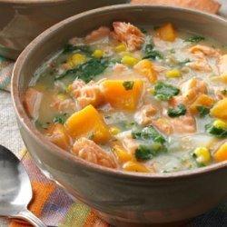 Veggie Salmon Chowder recipe