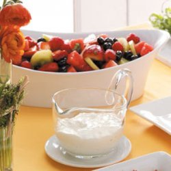 Mixed Fruit with Lemon-Basil Dressing recipe