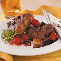 Grilled Lamb Chops with Wine Sauce recipe
