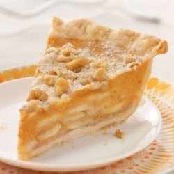 Crumb-Topped Apple & Pumpkin Pie recipe
