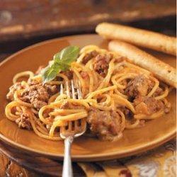 Two-Cheese Spaghetti Bake recipe